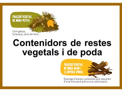 Contenidors de restes vegetals i de poda