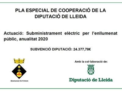 Subvenció Diputació Subministrament Enllumenat Públic