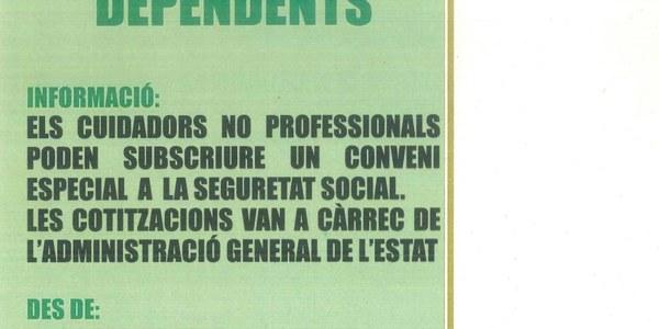 Informació pels cuidadors no professionals de persones dependents