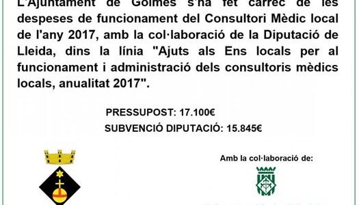 Ajuts als ajuntaments per al manteniment i la gestió dels consultoris mèdics
