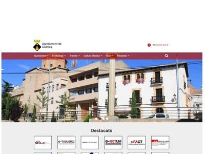 Nova web de l'Ajuntament de Golmés