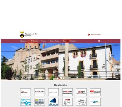 Nou web de l'Ajuntament de Golmés