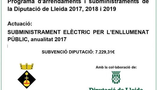 Pla d'Arrendaments i Subministraments 2017-2018-2019