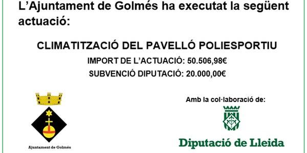 Subvenció Diputació Climatització